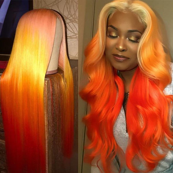 Ulovewigs Human Virgin Hair Pre Plucked Lace Front Wig And Full Lace Wig  Free Shipping (ULW0159)