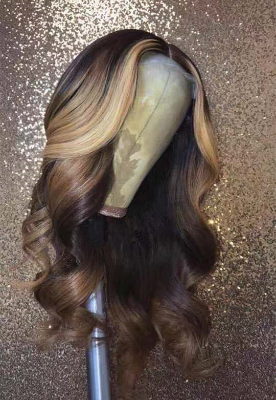 Ulovewigs Human Virgin Hair Pre Plucked Lace Front Wig  Free Shipping (ULW0200)