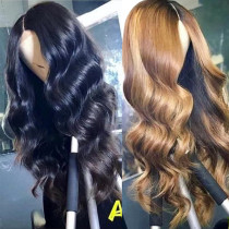 Ulovewigs Human Virgin Hair Pre Plucked Lace Front Wig  Free Shipping (ULW0274)