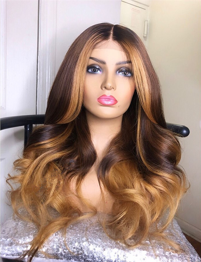 Ulovewigs Human Virgin Hair Pre Plucked Lace Front Wig And Full Lace Wig Free Shipping (ULW0351)