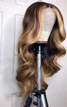 Ulovewigs Human Virgin Hair Pre Plucked Lace Front Wig Free Shipping (ULW0348)