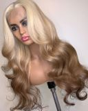 Ulovewigs Human Virgin Hair Pre Plucked Lace Front Wig  Free Shipping (ULW0386)