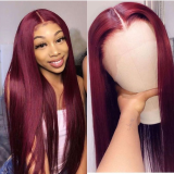Ulovewigs Human Virgin Hair Pre Plucked 13*6 Lace Front Wig  Free Shipping (ULW0302)