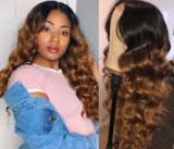 Ulovewigs Human Virgin Hair Pre Plucked Lace Front Wig  Free Shipping (ULW0395)