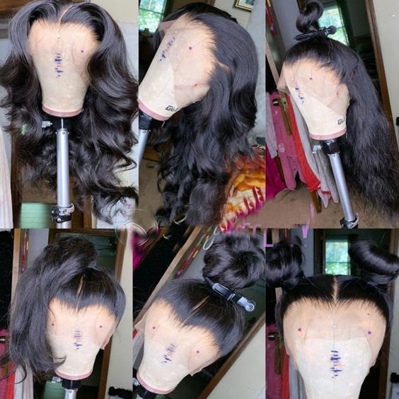 Ulovewigs Pre Plucked Straight 360 Lace Frontal Wig With Baby Hair Lace Front Human Hair Wigs  free shipping(ULW0398)
