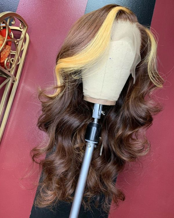 Ulovewigs Human Virgin Hair Pre Plucked Lace Front Wig  Free Shipping (ULW0400)