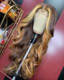 Ulovewigs Human Virgin Hair Pre Plucked Lace Front Wig  Free Shipping (ULW0401)