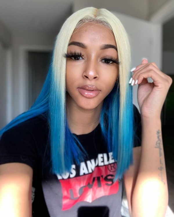 Ulovewigs Human Virgin Hair Pre Plucked Lace Front Wig Free Shipping (ULW0405)