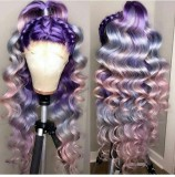 Ulovewigs Human Virgin Hair Pre Plucked Lace Front Wig  Free Shipping (ULW0407)