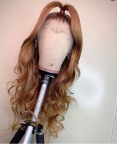 Ulovewigs Human Virgin Hair Pre Plucked Lace Front Wig  Free Shipping (ULW0416)