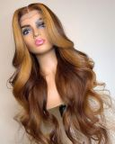 Ulovewigs Human Virgin Hair Pre Plucked Lace Front Wig  Free Shipping (ULW0418)