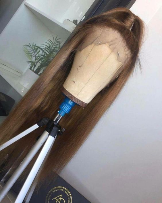 Ulovewigs Human Virgin Hair Pre Plucked Lace Front Wig  Free Shipping (ULW0417)