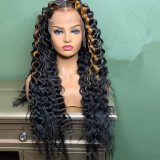 Ulovewigs Human Virgin Hair Pre Plucked Lace Front Wig  Free Shipping (ULW0414)