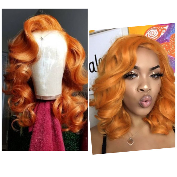 Ulovewigs Human Virgin Hair Pre Plucked Lace Front Wig  Free Shipping (ULW0421)