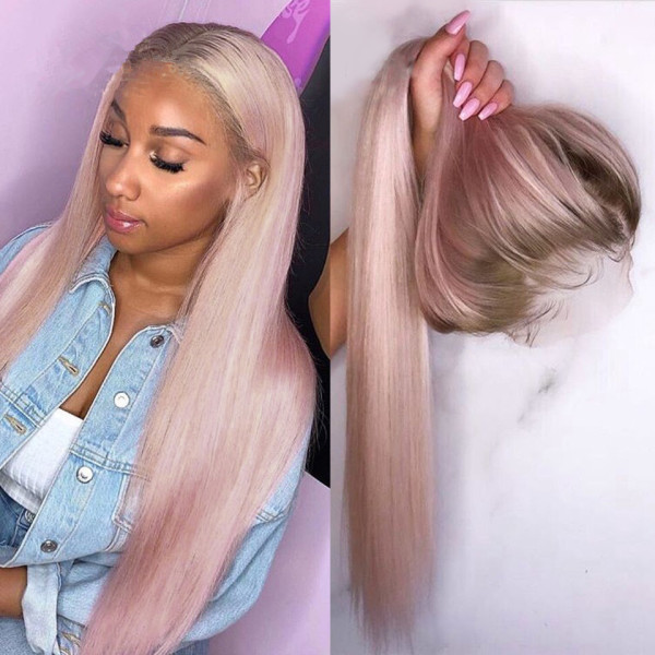 Ulovewigs Human Virgin Hair Pre Plucked Lace Front Wig  Free  Shipping (ULW0419)