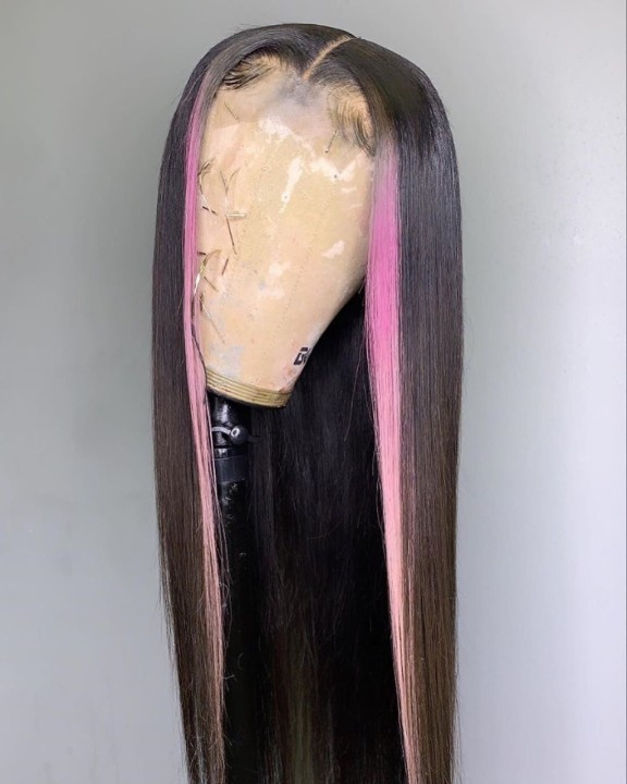 Ulovewigs Human Virgin Hair Pre Plucked Lace Front Wig  Free Shipping (ULW0426)