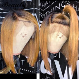 Ulovewigs Human Virgin Hair Pre Plucked Lace Front Wig Free Shipping (ULW0436)