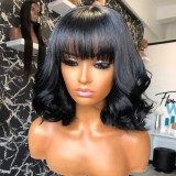 Ulovewigs Human Virgin Hair Pre Plucked Lace Front Wig  Free Shipping (ULW0437)