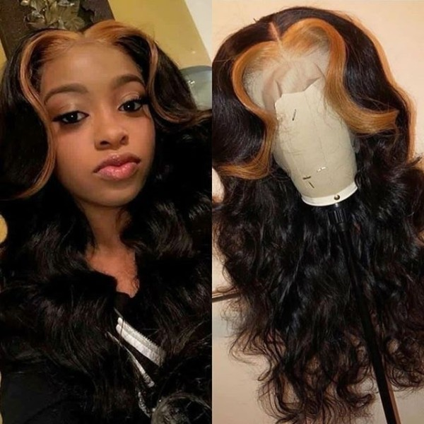 Ulovewigs Human Virgin Hair  Pre Plucked 13*4 Lace Front Wig Free Shipping(ULW0039)