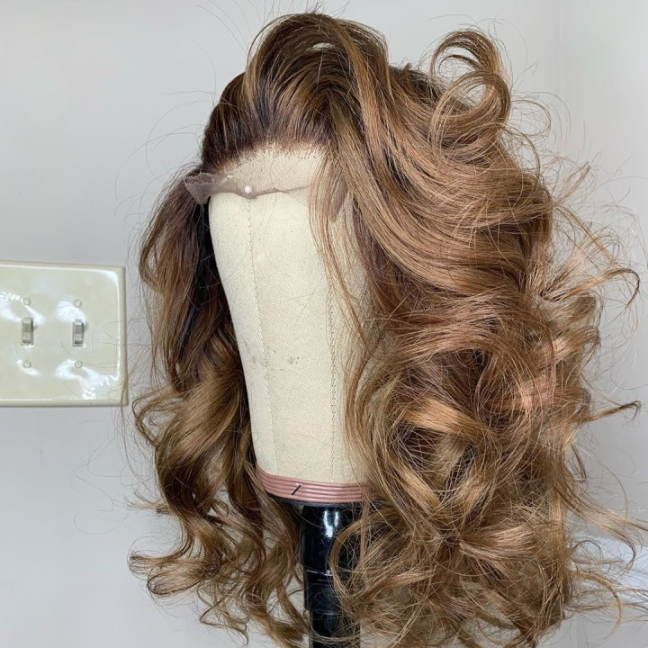 Ulovewigs Human Virgin Hair Pre Plucked Lace Front Wig And Full Lace Wig Free Shipping (ULW0442)