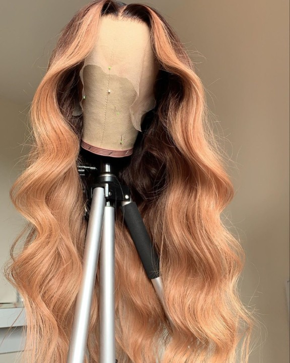 Ulovewigs Human Virgin Hair Pre Plucked Lace Front Wig And Full Lace Wig Free Shipping (ULW0441)