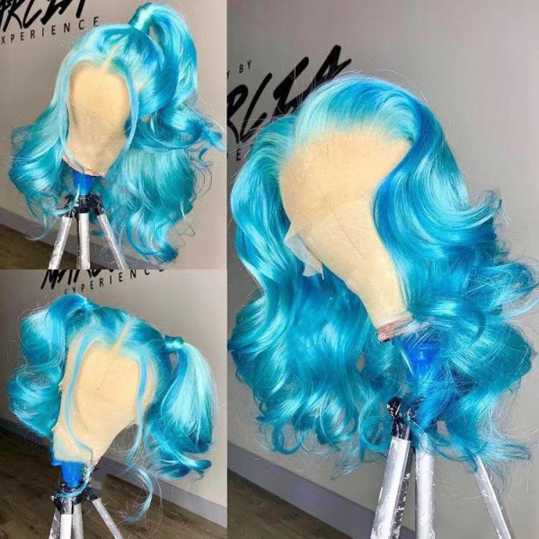 Ulovewigs Human Virgin Hair Pre Plucked Lace Front Wig  Free Shipping (ULW0452)
