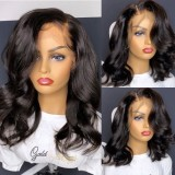 Ulovewigs Human Virgin Hair Pre Plucked Lace Front Wig  Free Shipping (ULW0454)