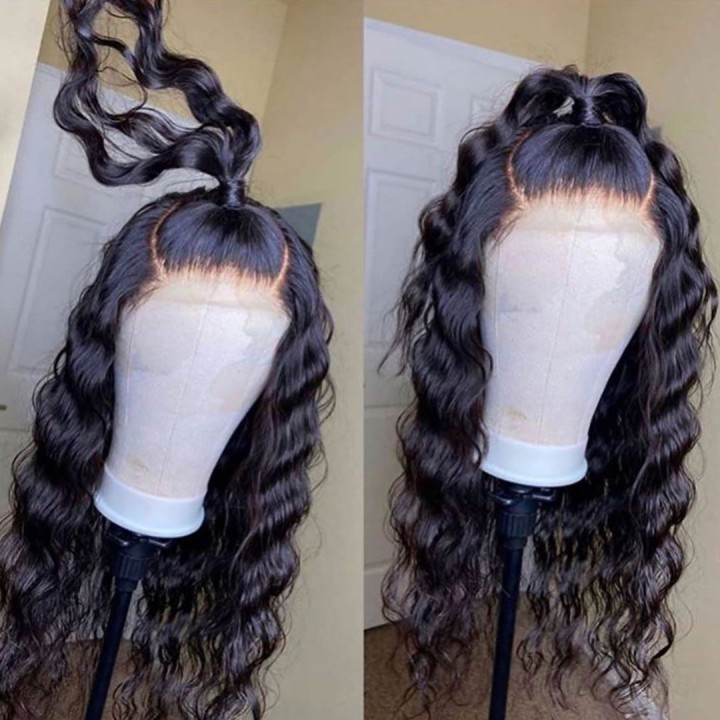 Ulovewigs Human Virgin Hair Pre Plucked Lace Front Wig And Full Lace Wig Free Shipping (ULW0460)