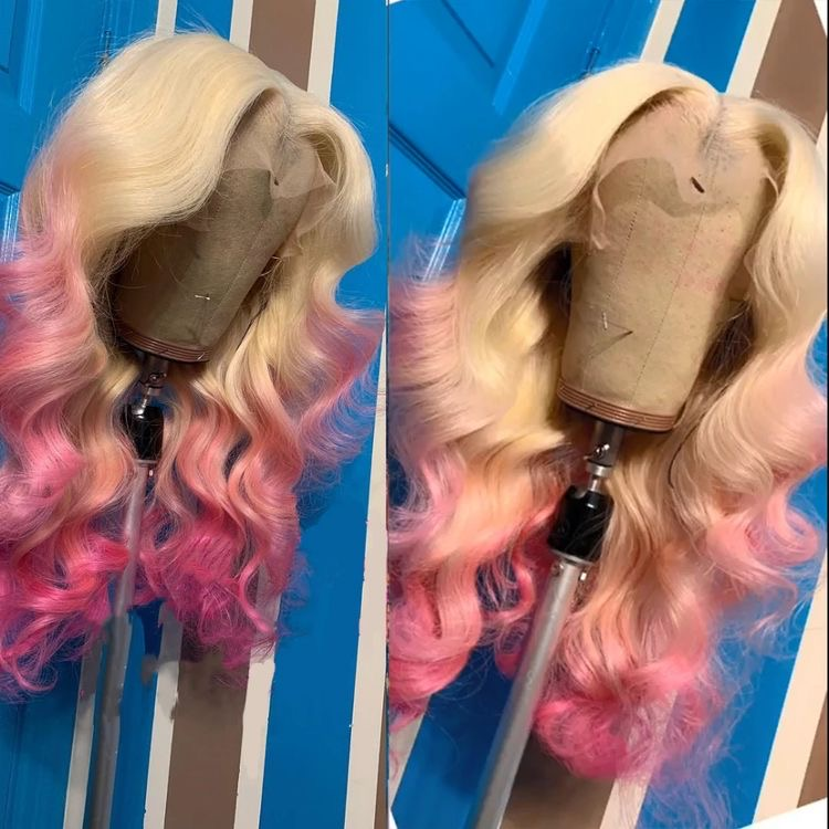 Ulovewigs Human Virgin Hair Pre Plucked Lace Front Wig  Free Shipping (ULW0453)