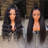 Ulovewigs Human Virgin Hair Pre Plucked Lace Front Wig Free Shipping (ULW0459)