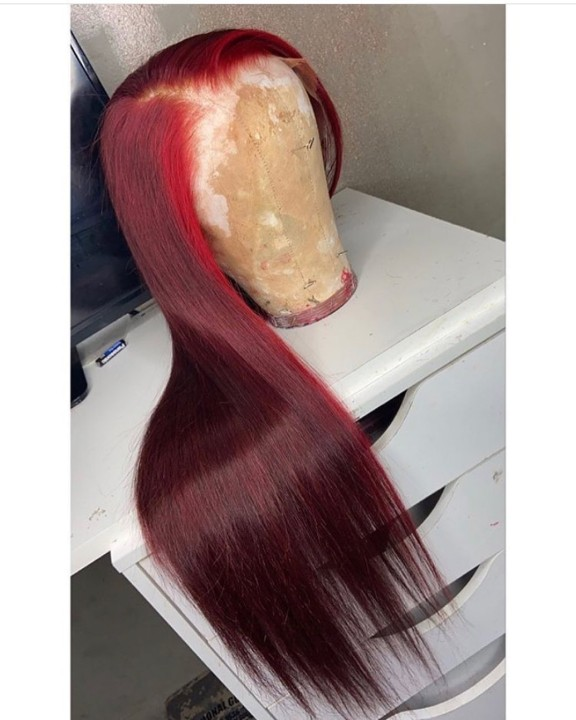 Ulovewigs Human Virgin Hair Pre Plucked Lace Front Wig  Free Shipping (ULW0461)
