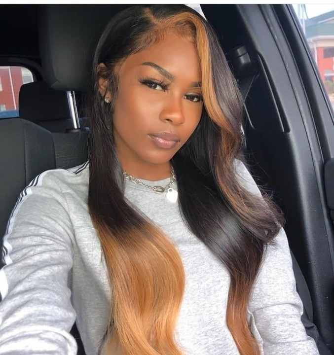 Ulovewigs Human Virgin Hair Pre Plucked Lace Front Wig  Free Shipping (ULW0456)