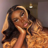 Ulovewigs Human Virgin Hair Pre Plucked Lace Front Wig  Free Shipping (ULW0457)