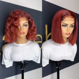 Ulovewigs Pre Plucked Human Virgin Hair lace front wig and full lace wig  Free Shipping(ULW0465)
