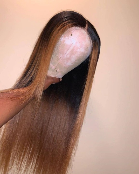 Ulovewigs Human Virgin Hair Pre Plucked Lace Front Wig Free Shipping (ULW0466)