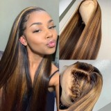 Ulovewigs Human Virgin Hair Pre Plucked HD Swiss Transparent Lace Front Wig And Full Lace Wig Free Shipping (ULW0470)