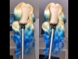 Ulovewigs Human Virgin Hair Wave Pre Plucked Lace Front Wig Free Shipping (ULW0061)