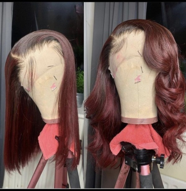 Ulovewigs Pre Plucked Human Virgin Hair lace front wig  Free Shipping(ULW0476)