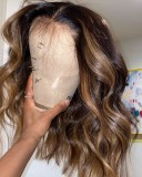Ulovewigs Human Virgin Hair Pre Plucked Lace Front Wig Free Shipping (ULW0478)