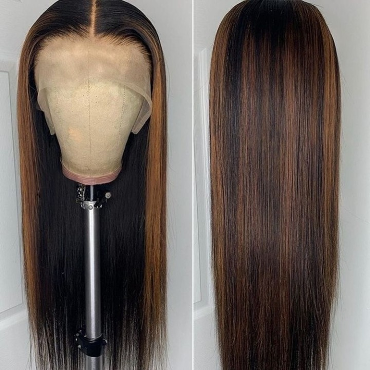 Ulovewigs Human Virgin Hair Pre Plucked Lace Front Wig  Free Shipping (ULW0488)