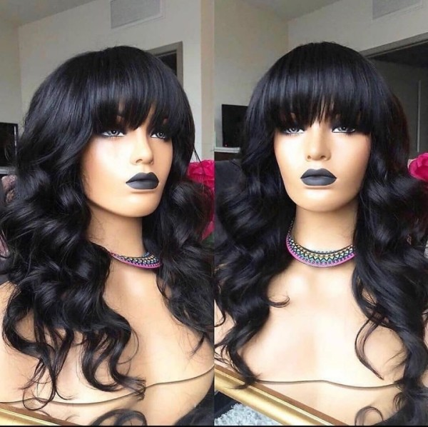 Ulovewigs Human Virgin Hair  Pre Plucked Lace Front Wig  Free Shipping (ULW0485)