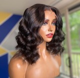 Ulovewigs Human Virgin Hair  Pre Plucked Lace Front Wig  Free Shipping (ULW0487)