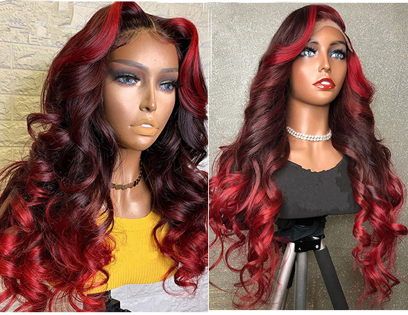 Ulovewigs Human Virgin Hair Pre Plucked Lace Front Wig Free Shipping (ULW0494)