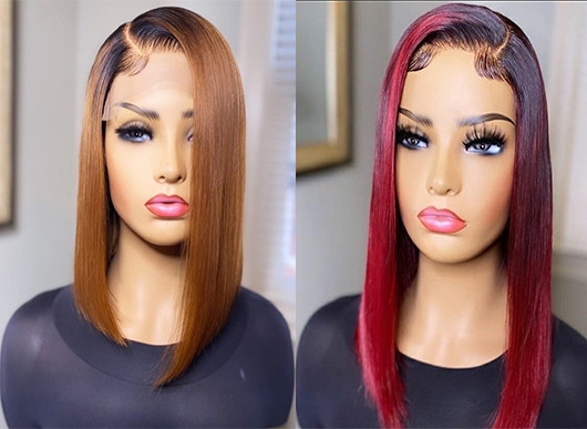 Ulovewigs Human Virgin Hair Pre Plucked Lace Front Wig  Free Shipping (ULW0495)