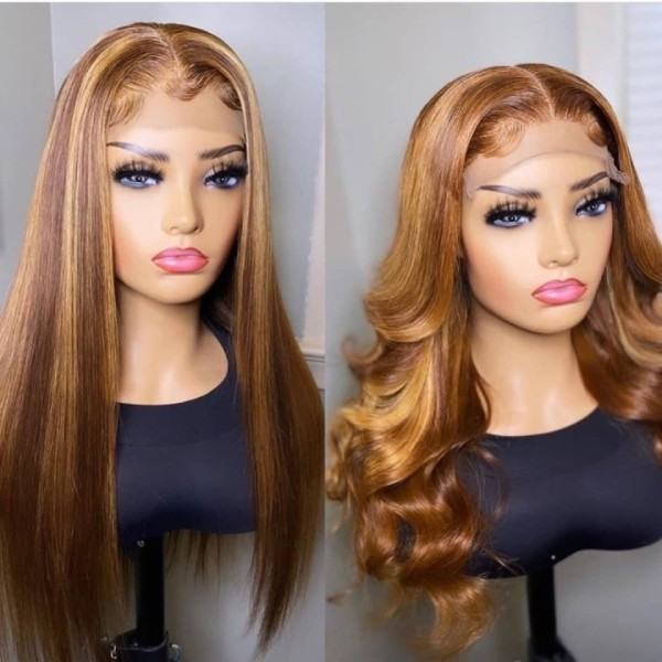 Ulovewigs Human Virgin Hair Pre Plucked Lace Front Wig  Free Shipping (ULW0512)