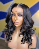 Ulovewigs Human Virgin Hair Pre Plucked Lace Front Wig  Free Shipping (ULW0516)