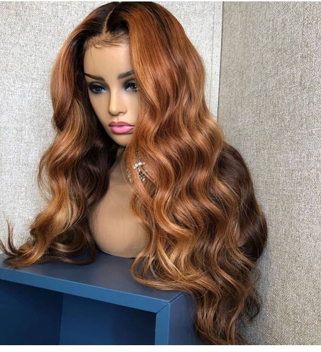 Ulovewigs Human Virgin Hair Pre Plucked Lace Front Wig Free Shipping (ULW0510)