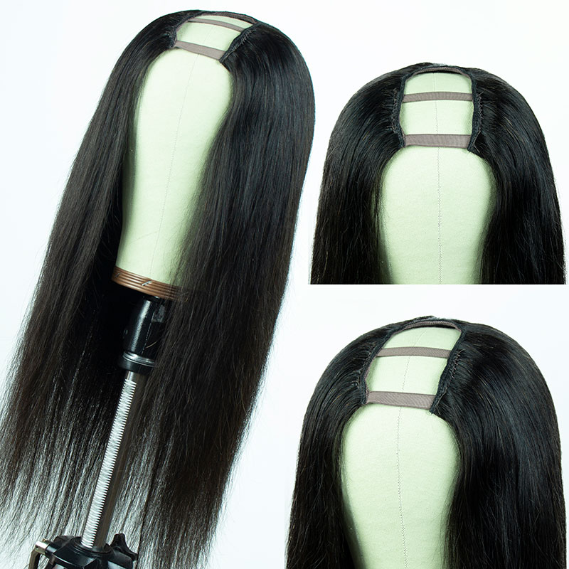 Ulovewigs Human Virgin Hair Pre Plucked U Part Wig Free Shipping (ULW0518)