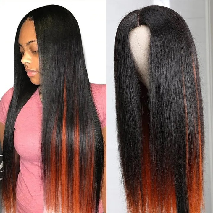 Ulovewigs Human Virgin Hair Curly Pre Plucked 13*4 Lace Front Wig  Free Shipping(ULW0036)
