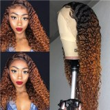 Ulovewigs Human Virgin Hair Wave Pre Plucked 13*6Lace Front Wig  Free Shipping (ULW0271)